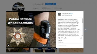 cobb-county-sheriff-posts-psa-after-lifelong-monitoring-of-'sexually-dangerous-predators'-ruled-unconstitutional